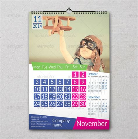 wall calendar design template 15 eye catching printable calendar templates