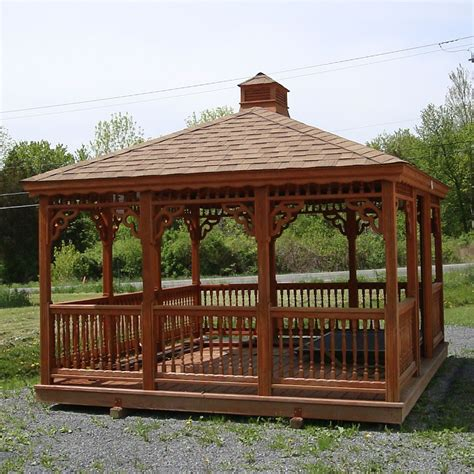 wood gazebo bayhorse gazebos barns rectangle wood gazebo 12 x