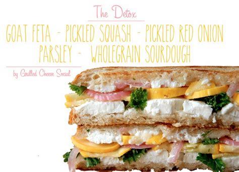Detox Grilled Cheese the detox goat feta pickled squash pickled