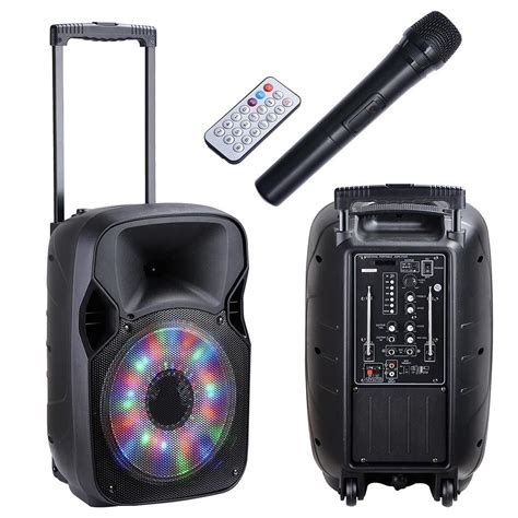 Mic Ys 68 Wireless Bluetooth Karaoke Led Rgb Microphone Ys68 Q9 4 12 quot rechargeable speaker pa system bluetooth usb tf