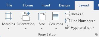 word layout tab word 2016 layout tab legal office guru