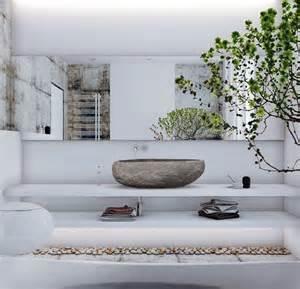 la deco avec une vasque en dans une salle de bain