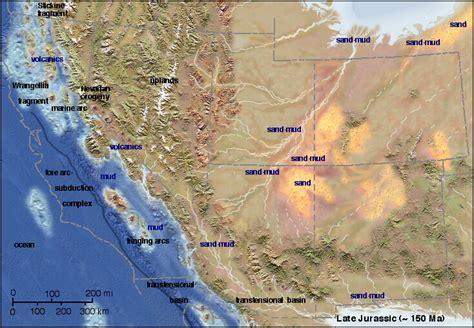 jurassic map america jurassic paleogeography