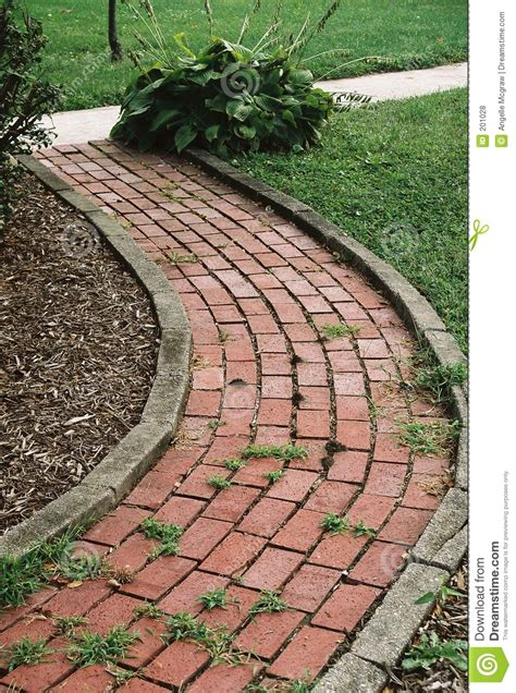 Front Yard Walkway Landscaping Ideas - garden path stock photo image of appeal outdoors path 201028