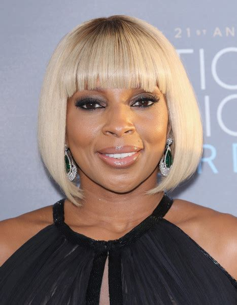 mary j blige short hairstyles stylebistro more pics of mary j blige bob 2 of 14 short