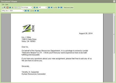 welcome aboard letter features form letter label editor trak hr