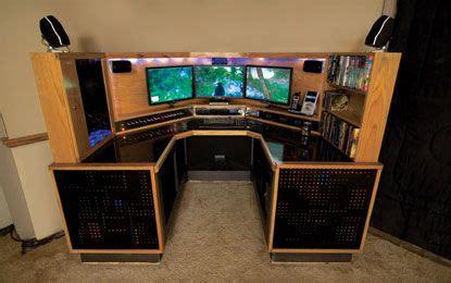 computer desk creation  monitors   blinking leds