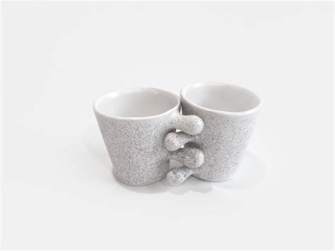 Ceramic Cup shop set of two white ceramic cups drops on crowdyhouse