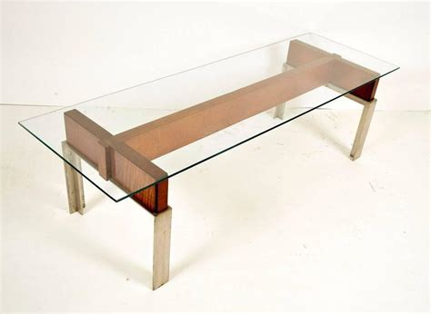 Wood And Chrome Coffee Table Mid Century Modern Chrome And Wood Coffee Table For Sale At 1stdibs