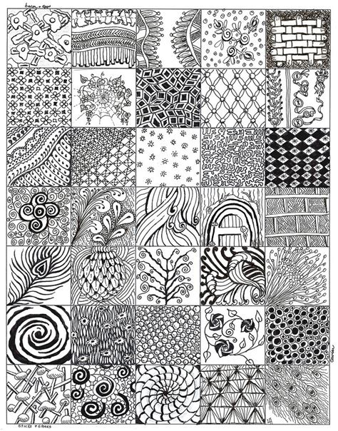 pattern art exles my zentangle bits 02 after my first 4 zentangles here is
