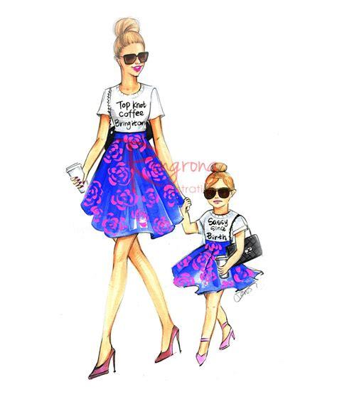 Sketches 4 Daughters by Ilustraci 243 N D 237 A De La Madre Mam 225 E Hija Pared Arte El