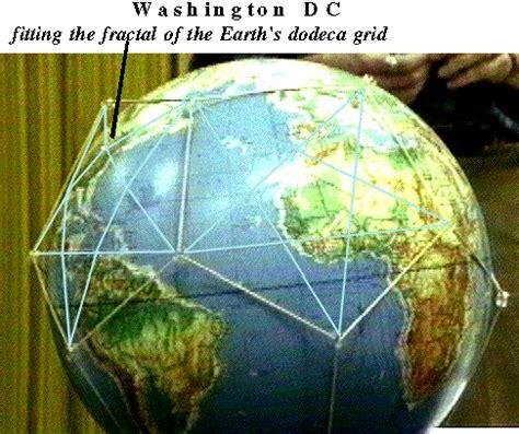 washington dc and pentagon on the earth grid