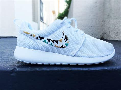 cute pattern nikes womens custom nike roshe run sneakers triangle tribal