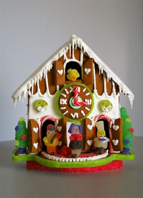 Ideas For Gingerbread Houses by Gingerbread House Ideas Gingerbread Cuckoo Clock Gumdrop