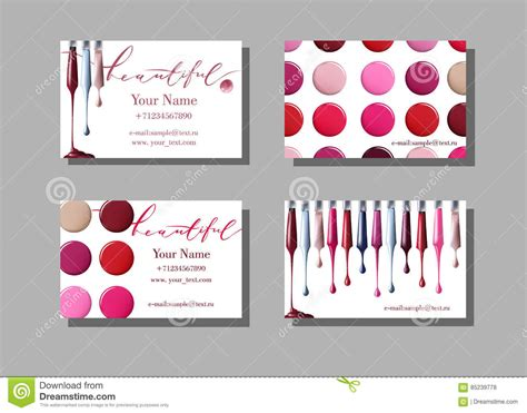 Makeup Artist Composite Card Template by Makeup Artist Business Card Vector Template With Makeup