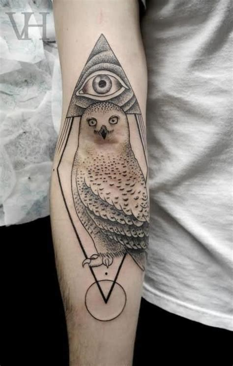 awesome grey ink eye triangle tattoo on chest in 2017 real photo owl tattoostime search