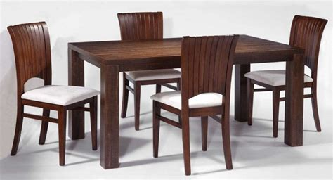 modern dining room with rectangular solid wood table set