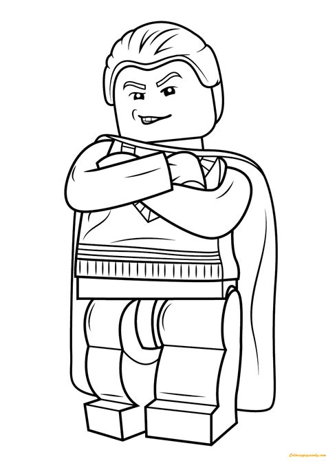 coloring pages lego harry potter lego harry potter draco malfoy coloring page free