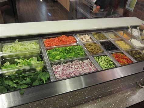 salad bar toppings list image gallery subway toppings