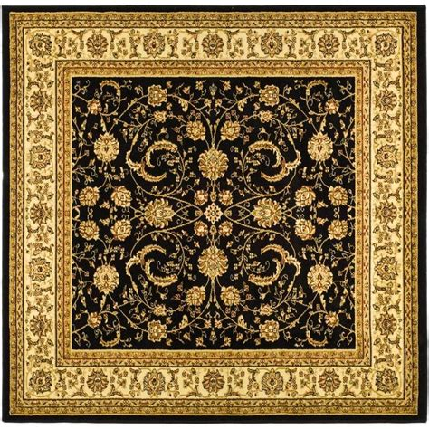 6 Square Area Rug Safavieh Lyndhurst Black Ivory 6 Ft X 6 Ft Square Area Rug Lnh219a 6sq The Home Depot