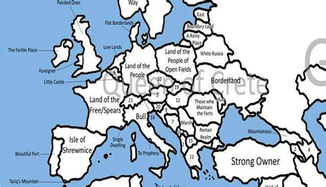 map without country names europe europe map without country names