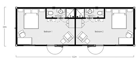 2 Bedroom Apartment Floor Plans by Intermodal Shipping Container Home Floor Plans Below Are
