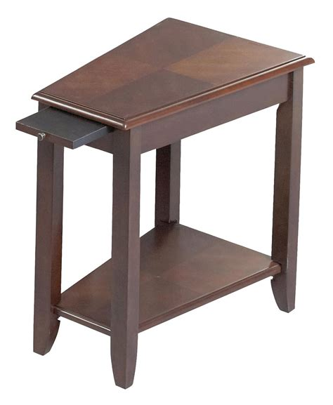 wedge accent table black paint wedge shaped end table style all about house