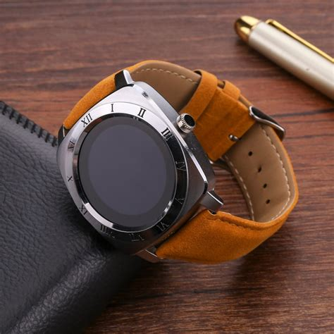 Smart Dz10 Smartwatch X3 Sim Card Memory Card Gold Brown smart x3 with single sim card slot for 2g gsm phone call bluetooth smartwatch rate