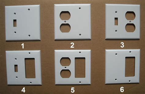 %name blank plastic cards   2 GANG COMBO TOGGLE SWITCH DUPLEX PLUG GFI GFCI BLANK PLASTIC COVER PLATE WHITE   eBay
