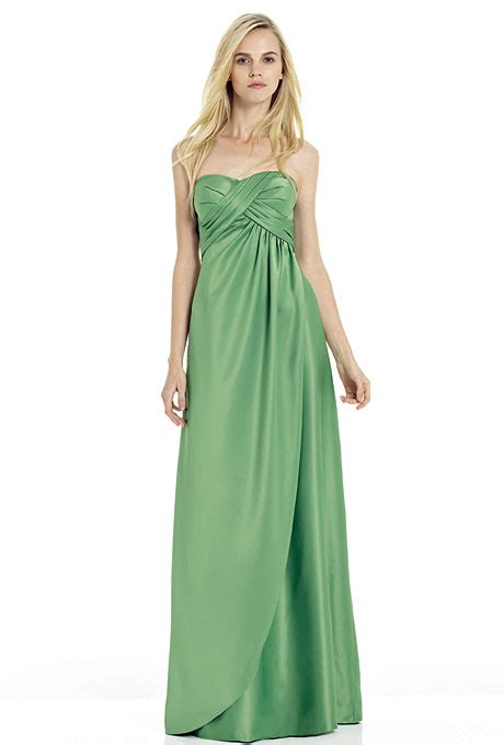 long strapless bridesmaid dresses in every color