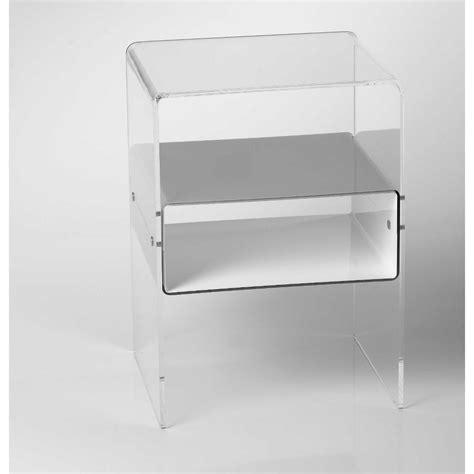 comodino plexiglass comodino con 1 ripiano struttura in plexiglas 8 mm