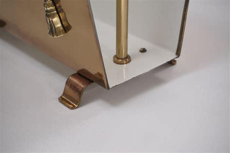 vintage brass magazine rack neoclassical  ca