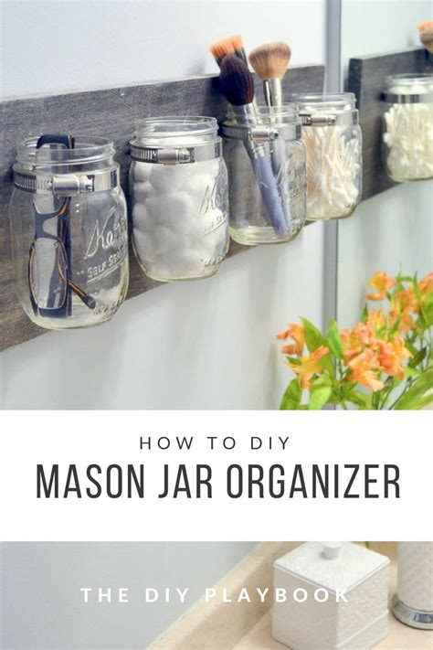 how to create a jar organizer for your bathroom space