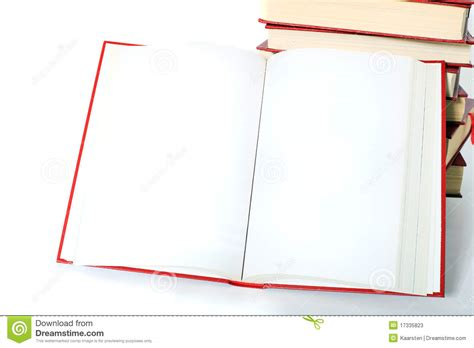 picture of an open book with blank pages open book with blank pages stock photos image 17335823