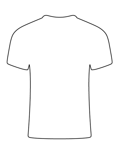 simple t shirt template t shirt pattern use the printable outline for crafts
