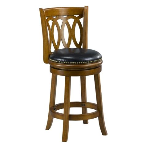 Solid Oak Back Swivel Bar Stool 24 Inches High by Mintra Oak Finish Spiral Back 24 Inch Swivel Counter