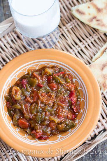 cuisine traditionnelle alg駻ienne hmiss alg 233 rien salade de poivrons les joyaux de sherazade
