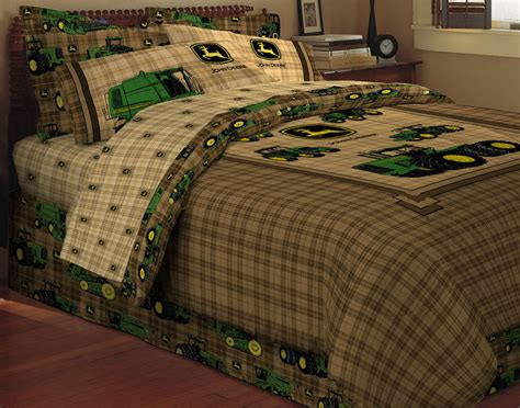 tractor bedding set brand new john deere traditional tractor plaid twin size