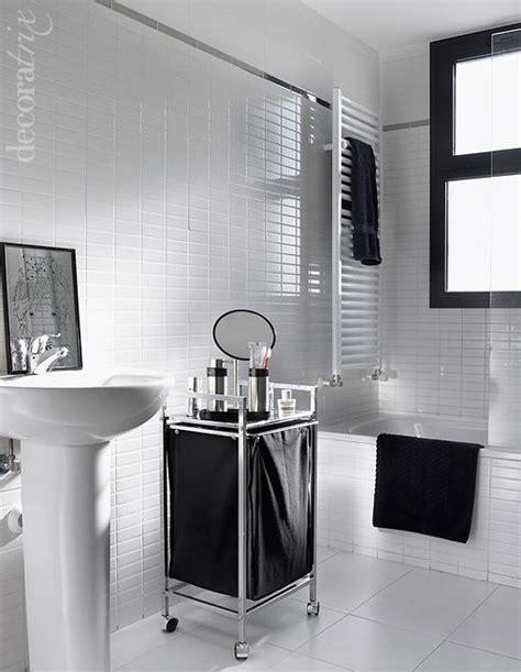 imagenes baños blanco y negro un ba 241 o decorado en blanco y negro