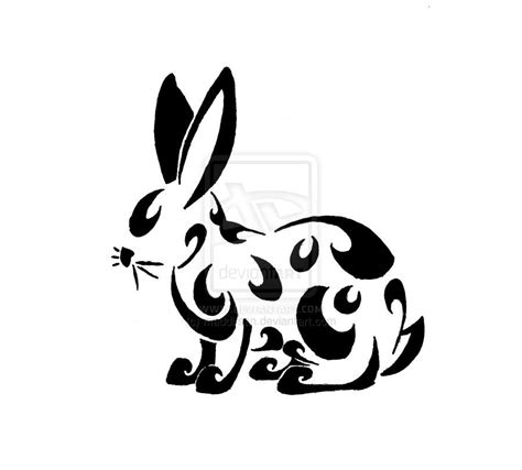 rabbit tribal tattoo tribal bunny by maddi san трафареты quot пламенные