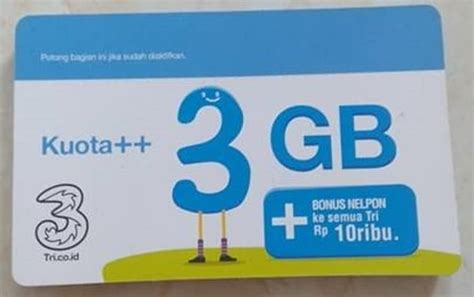 Isi Ulang Kuota Tri 3gb 6gb 4g by Jual Voucher Vocher Fisik Isi Ulang 3 Tri Three Aon 3gb 3