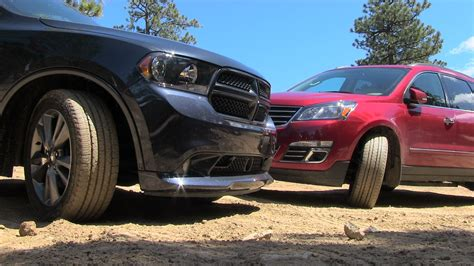 chevrolet jeep 2013 2013 dodge durango vs chevy traverse muddy off road mashup