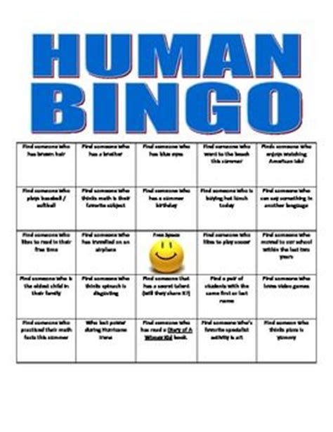 people human bingo bingo sheets bingo and getting to know
