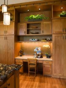 Kitchen Cabinet Desk Ideas by Tall Cabinets For Storage And Desk Area Kitchen Ideas