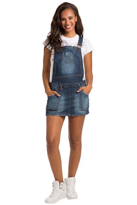 sweet vibes juniors womens denim romper overall dress