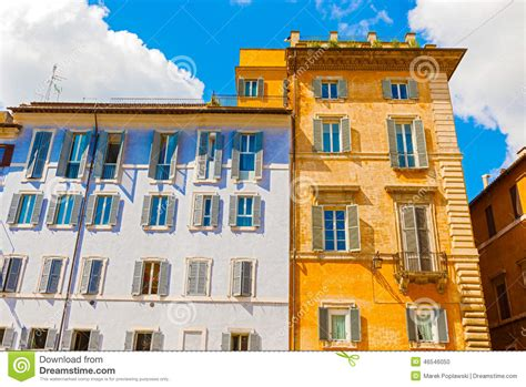 houses in rome italy stock photo image 46546050