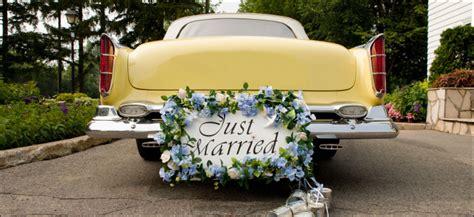 Just Married Autoschild Blechdosen by Hochzeitsshop Autodekoration Hochzeitsauto