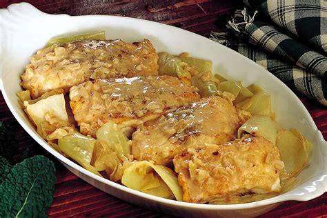 cavolo cappuccio ricette cucina ricetta stufato di storione e cavolo cappuccio la cucina