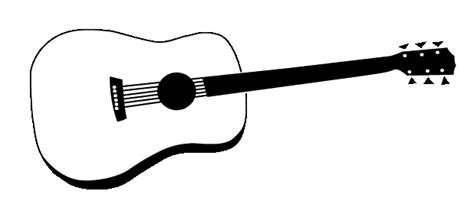 Guitar Clipart Outline by Guitar Outline Printable Clipart Panda Free Clipart Images