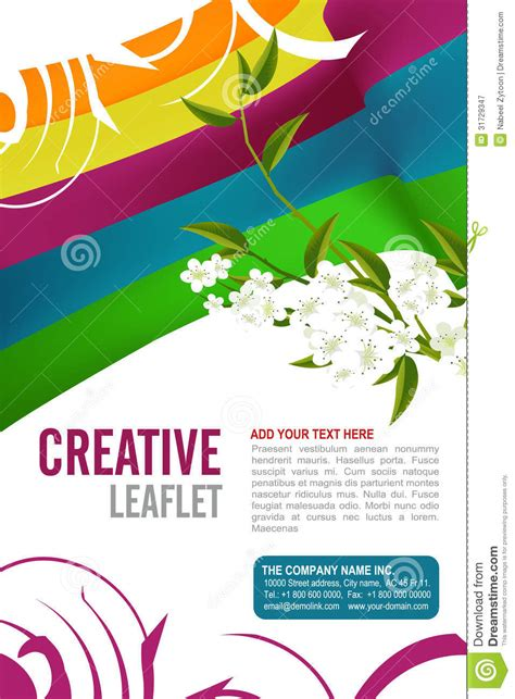 Leaflet Design Royalty Free Stock Photography Image
